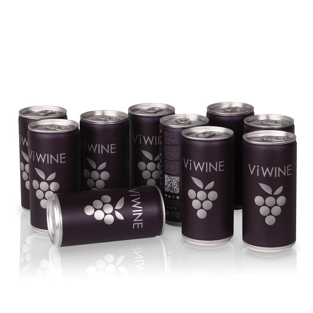 Vi WINE - Black - 10 pack - Víno v plechovce