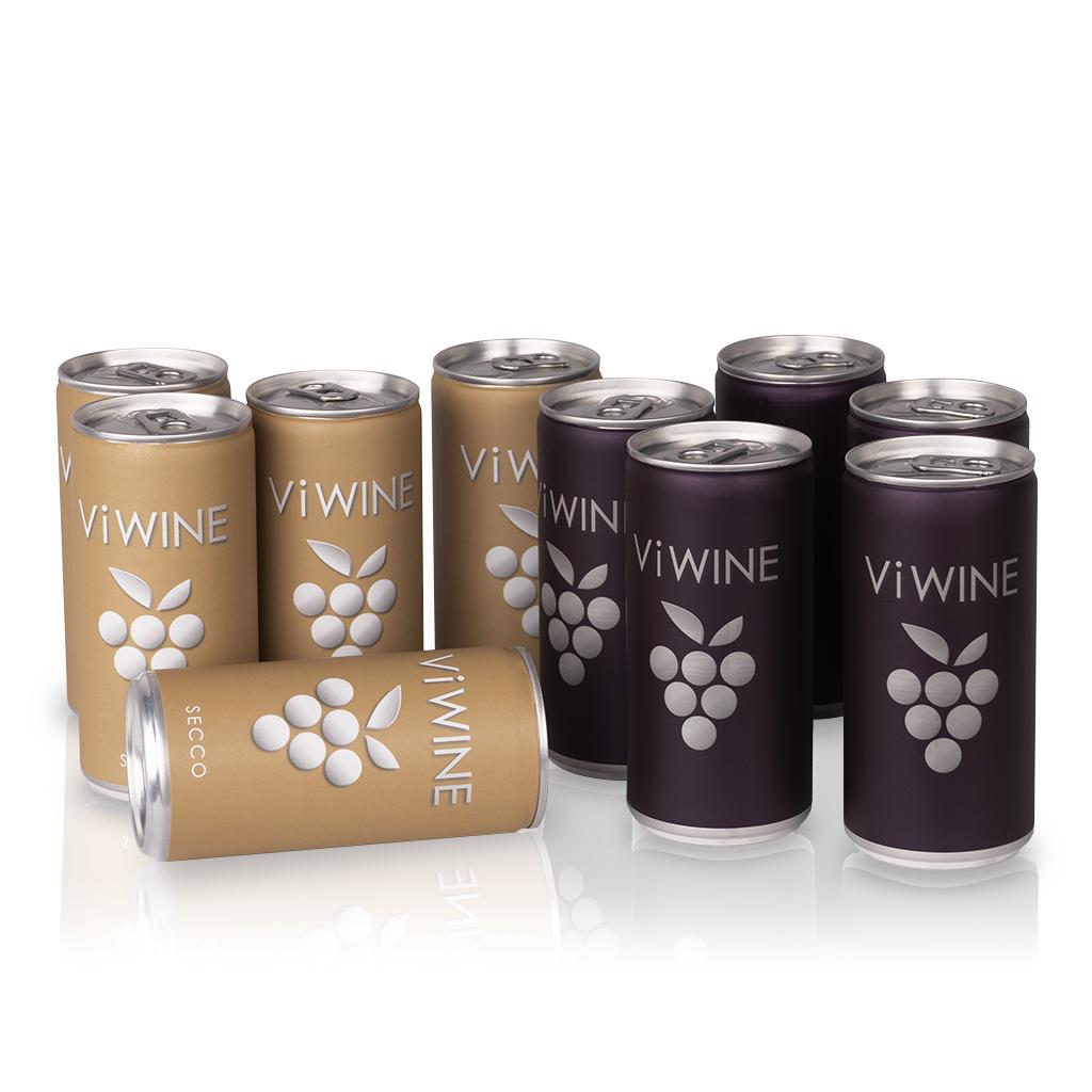 Vi WINE - Secco & Black - 10 pack - Víno v plechovce