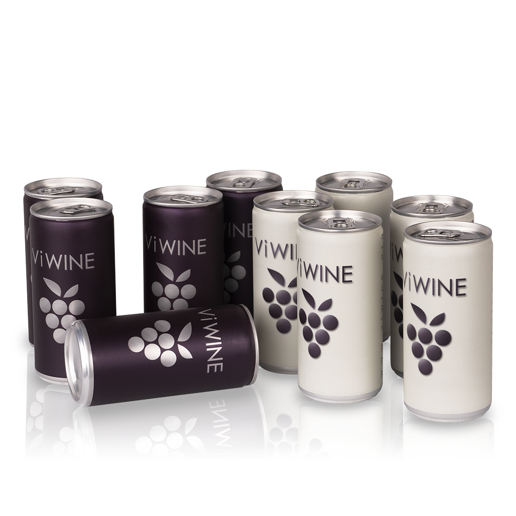 Vi WINE - Black & White - 10 pack - Víno v plechovce