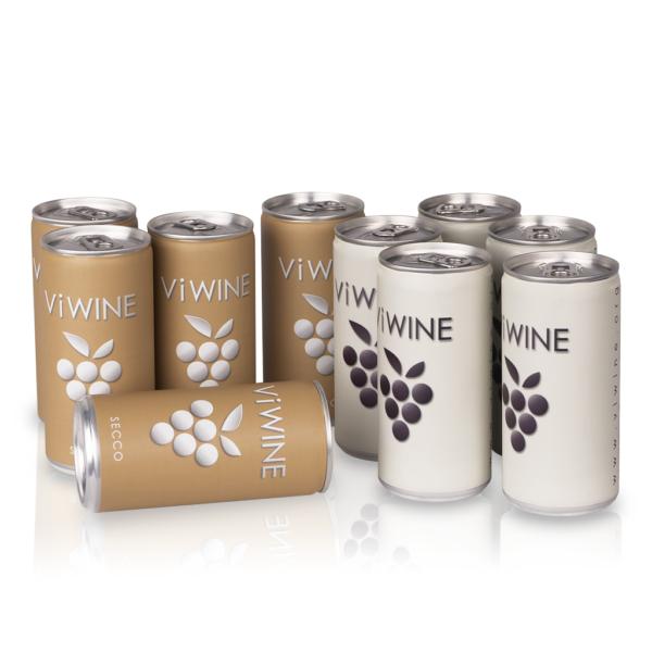 Vi WINE - Secco & White - 10 pack - Víno v plechovce
