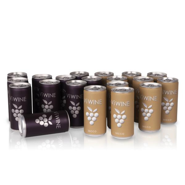 Vi WINE - Secco & Black - 20 pack - Víno v plechovce
