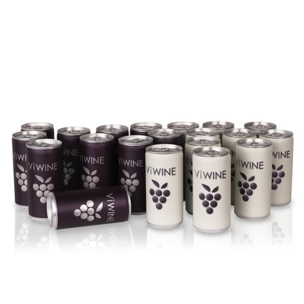 Vi WINE - Black & White - 20 pack - Víno v plechovce