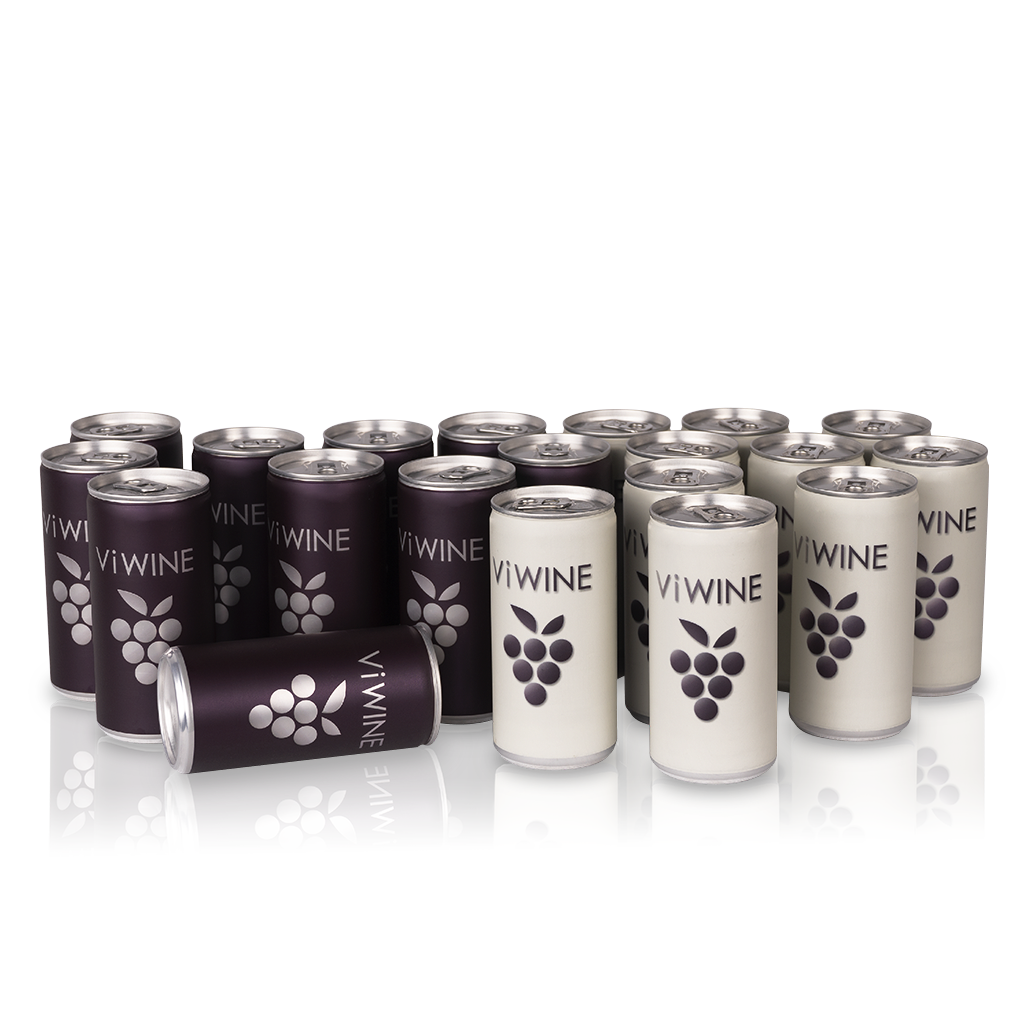Vi WINE - Black & White - 20 pack - Víno v plechovce