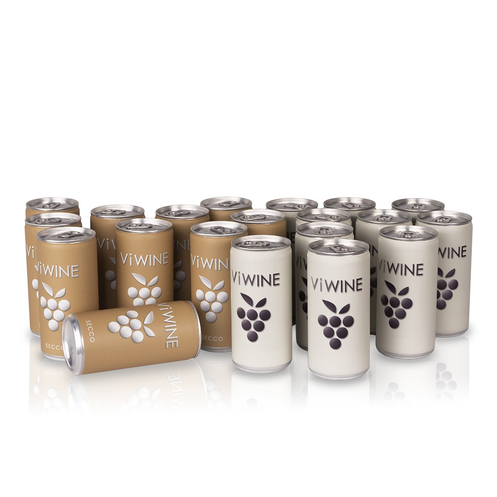 Vi WINE - Secco & White - 20 pack - Víno v plechovce