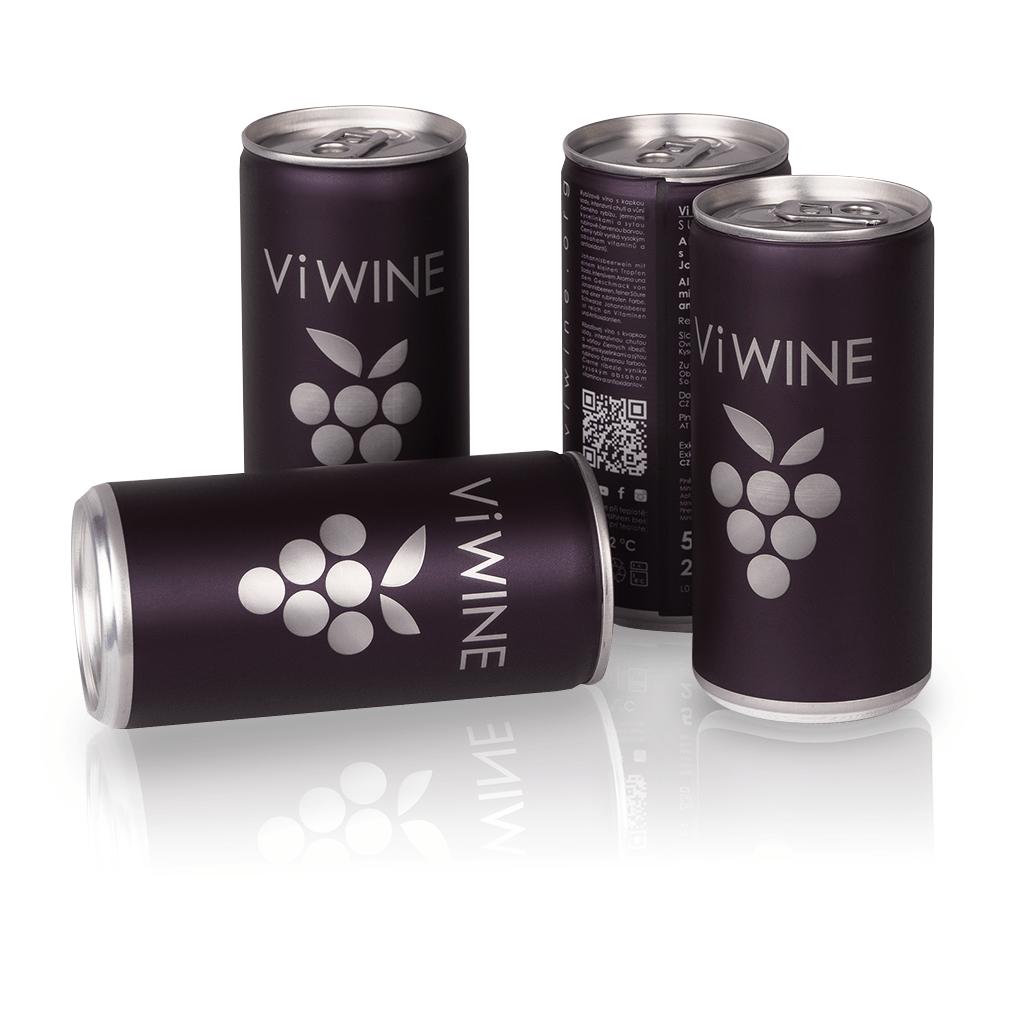 Vi WINE - Black - 4 pack - Víno v plechovce