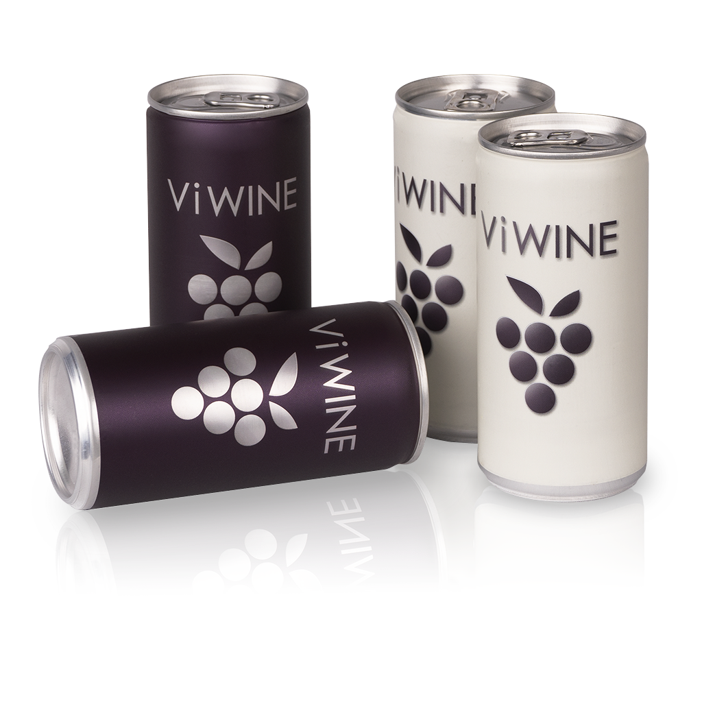 Vi WINE - Black & White - 4 pack - Víno v plechovce