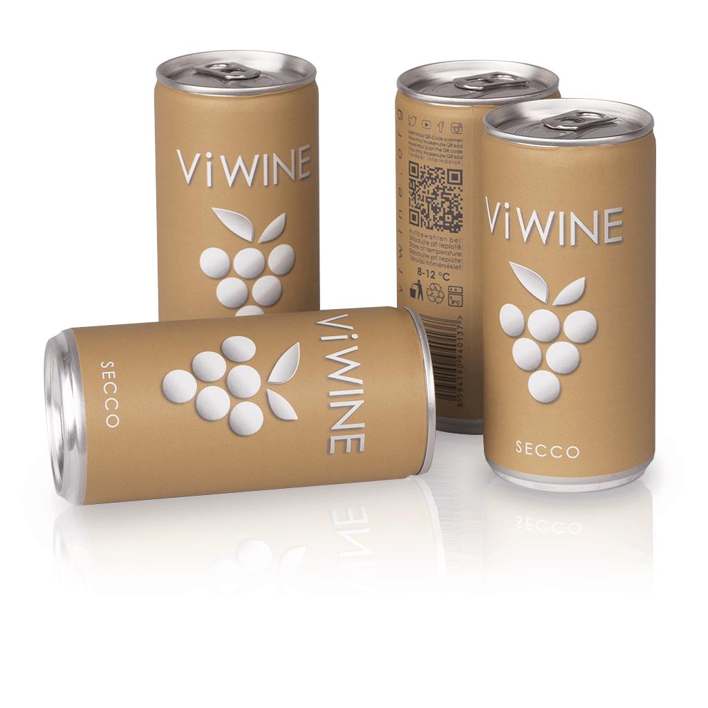 Vi WINE - Secco - 4 pack - Secco v plechovce